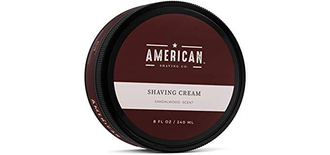 American Shaving Sandalwood - Scented Shaving Cream for Ingrown Hair