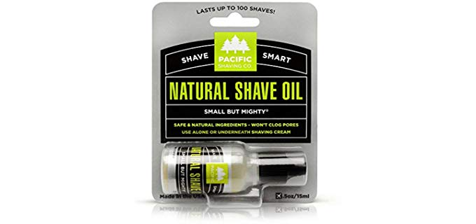 Pacific Shaving Company Natural - Shave Oil Soothes Razor Burn
