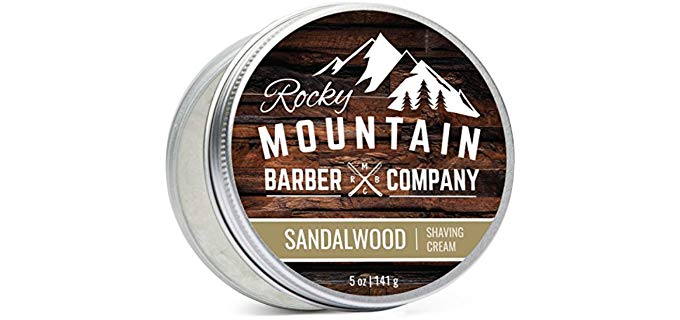 Rocky Mountain Hydrating - Sandalwood Shaving Cream for Eczema