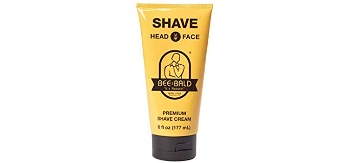 Bee Bald Premium - Slick Shaving Cream for Bald Head