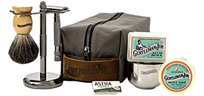 Gentleman Jon Deluxe - Wet Shaving Kit for Head