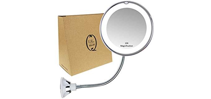 VrHere MirriM Gooseneck - Magnifying Head Shaving Mirror