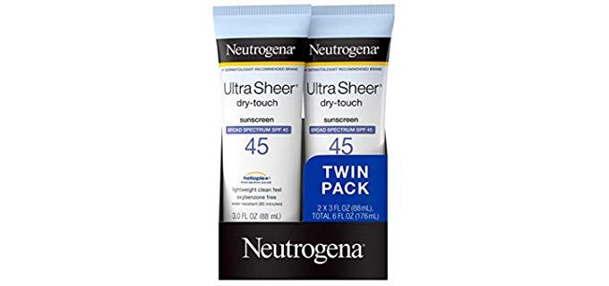 Neutrogena SPF 45 - TSA-compliant Sunscreen for Bald Head