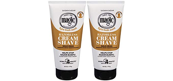 SoftSheen Cream - Magic Shaving Cream for Bald Head