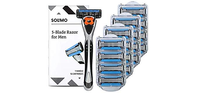 Solimo Hypoallergenic - 5-Blade Head Shaving Razor