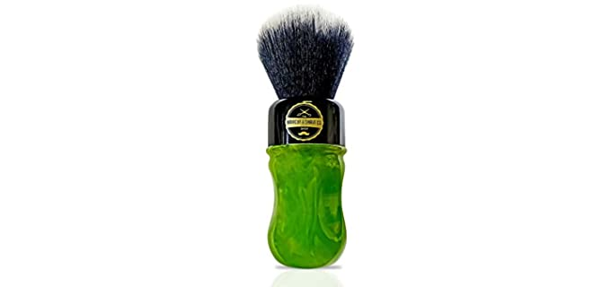 Haircut & Shave Co Synthetic - Long Handle Shaving Brush