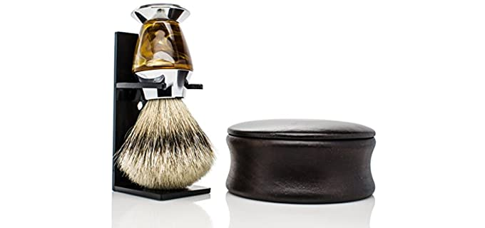 Maison Lambert Silvertip - Handmade Bald Head Shaving Brush