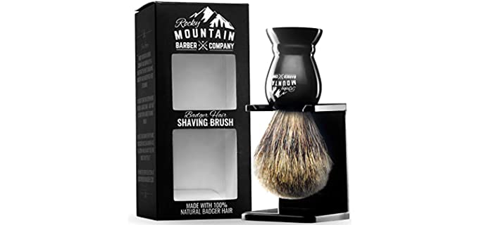 Rocky Mountain Barber Company Resin - Barber Bald Head Shaving Brush