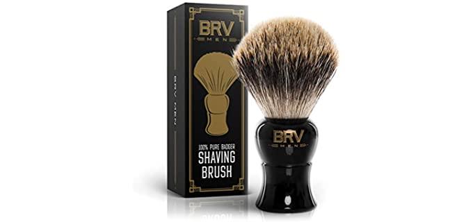 BRV MEN Rich Lather - Organic Hair Shaving Brush