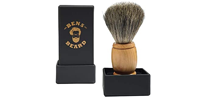 Bens Beard Olive Wood - Hair Shaving Brush