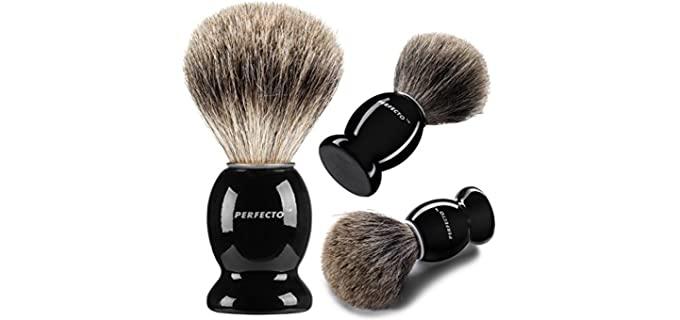 Perfecto Shiny Black - Shaving Brush