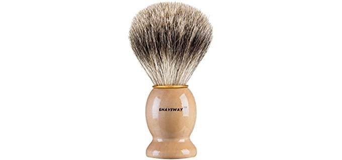 SHAVEWAY 100% Pure Badger Hair - Shaving Brush