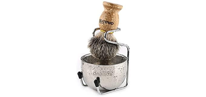 Anbbas 3 in 1 - Wood Badger Hair Brush