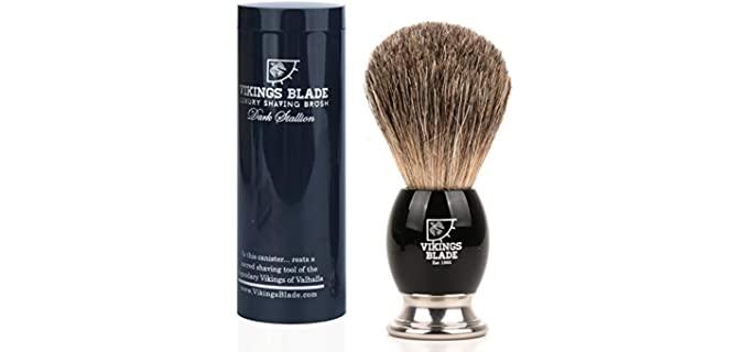 Vikings Blade Dark Stallion - Best Travel Shaving Brush
