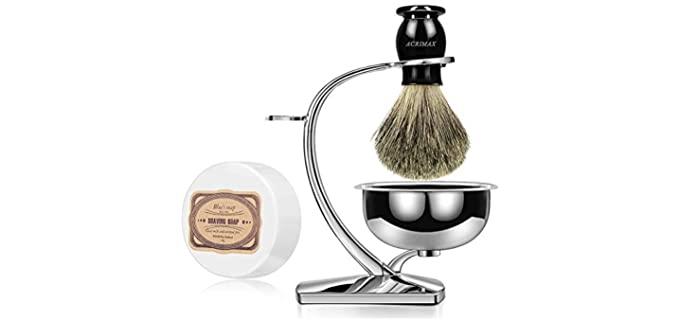 ACRIMAX Luxury Shaving Kit - Badger Shaving