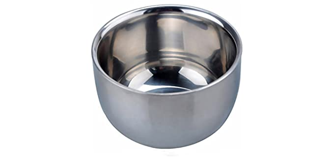 Akstore Double-Layered - Stainless Steel Shaving Bowl
