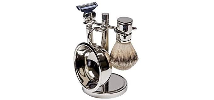 Harry D Koenig & Co Silver - Shaving Kit for Starter