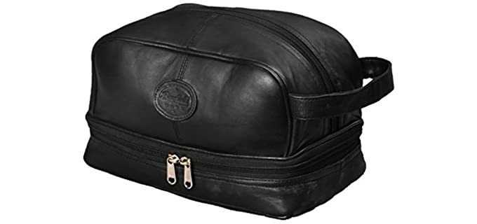 Bayfield Bags Organizer - Black Leather Shaving Kit