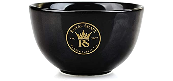 Royal Shave Textured - Ceramic Shaving Bowl