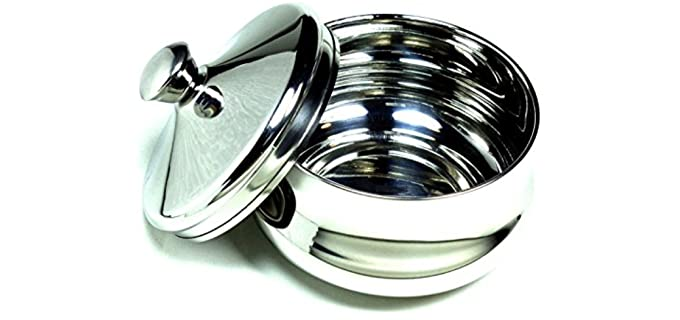 Schone Stainless Steel - Shaving bowl with Lid