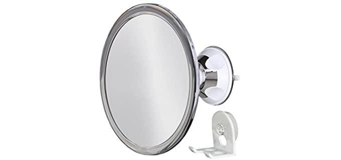 Upper West No Fog - Shower Mirror Rotating, Locking Suction