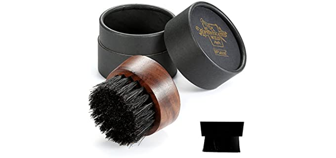 BFWood Black - Walnut Wood Best Beard Brush
