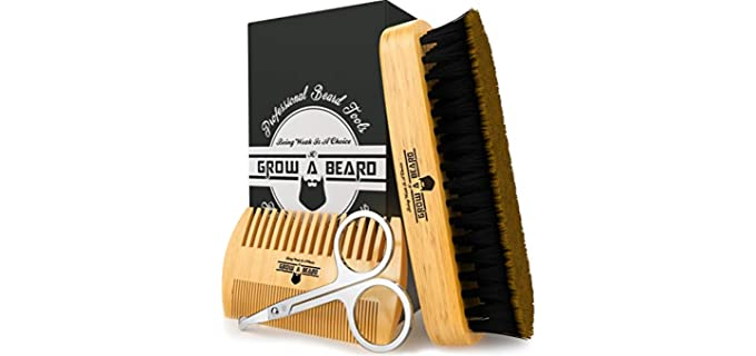 Grow Alpha Beard Ideal - Bamboo Best Beard Brush