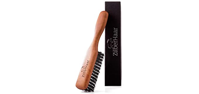 ZilberHaar Brown - Pearwood Beard Brush