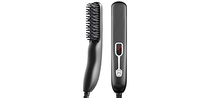Mannvlo Adjustable - Anti-Scald Beard Straightener