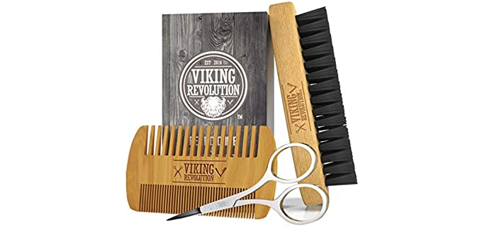 Viking Revolution Natural - Wood Best Beard Brush