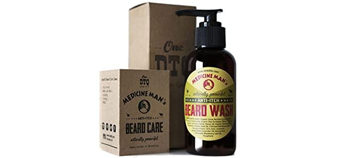OneDTQ Organic - Scented Best Beard Shampoo for Dandruff