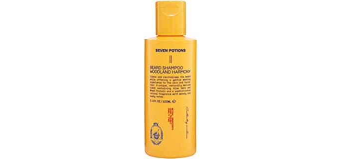Seven Potions Cleansing - Gentle Best Beard Shampoo For Dandruff