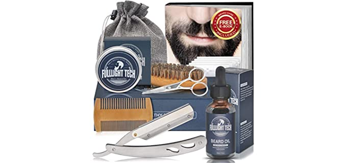 Fulllight Tech Beard Growth - Straight Razor Shaving Kit