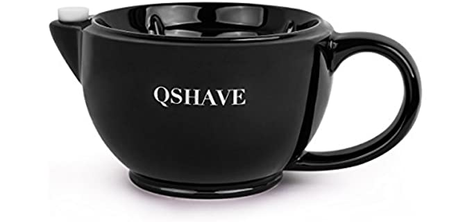 Qshave Scuttle Mug - Ceramic Shaving Bowl