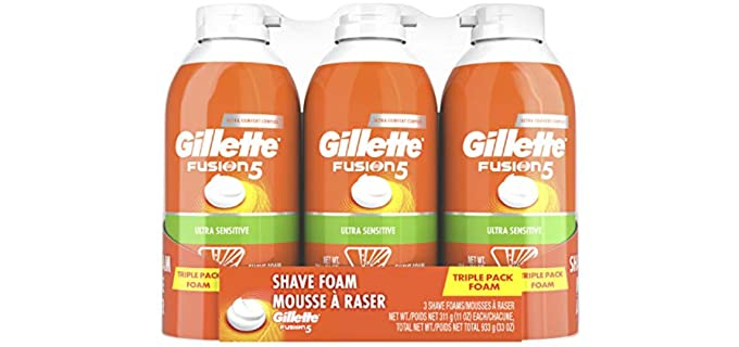 Gilette Fusion 5 - Sensitive Skin Shaving Cream