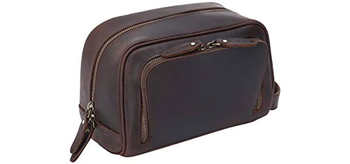 Polare Toiletry Bag - Leather Shaving Kit