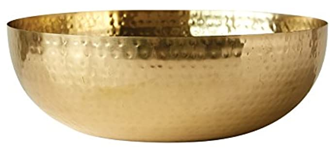 Creative Co-Op 14 Inch Shaving Bowl - Hammered Metal Bowl