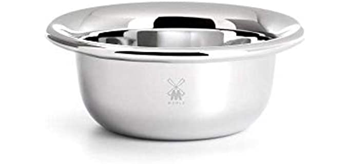 M MÜHLE Chrome Plated - Stainless Steel Shaving Bowl